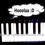 piano diciendo hola